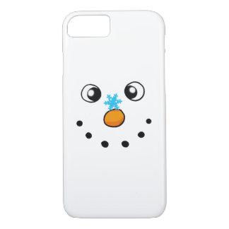 Coque iPhone 8/7 bonhomme de neige et flocon de neige mignons