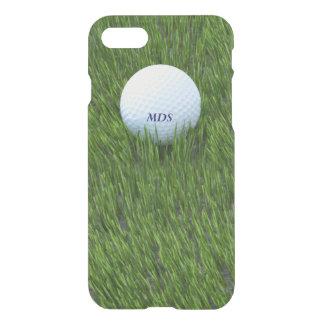Coque iPhone 8/7 Boule de golf dans le monogramme approximatif