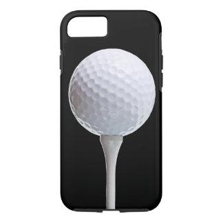 Coque iPhone 8/7 Boule de golf sur le noir - modèle customisé