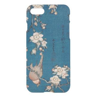 Coque iPhone 8/7 Bouvreuil sur une branche pleurante de cerise par