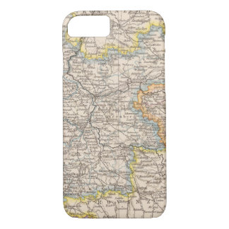 Coque iPhone 8/7 Brandebourg, carte d'atlas de Posen
