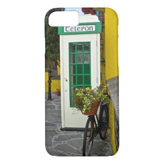 Coque iPhone 8/7 Cabine téléphonique vintage et bicyclette en