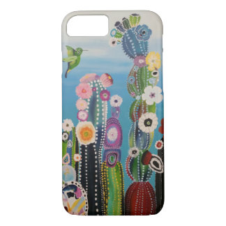 Coque iPhone 8/7 Cactus abstraits brillamment colorés