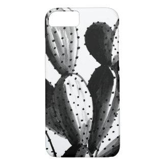 Coque iPhone 8/7 Cactus noir et blanc
