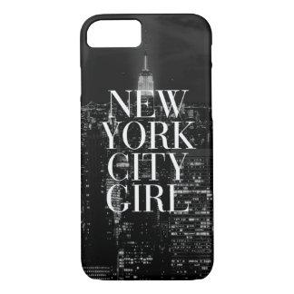 Coque iPhone 8/7 Caisse blanche de l'iPhone 6 de noir de fille de