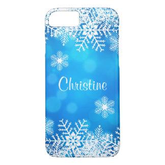 Coque iPhone 8/7 Caisse blanche de l'iPhone 7 de flocons de neige