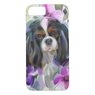 Coque iPhone 8/7 Caisse cavalière tricolore de téléphone d'art de