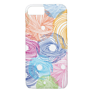 Coque iPhone 8/7 Caisse colorée d'illustration d'art