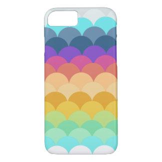 Coque iPhone 8/7 Caisse crantée colorée de l'iPhone 7