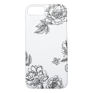 Coque iPhone 8/7 Caisse de fleurs de pivoine
