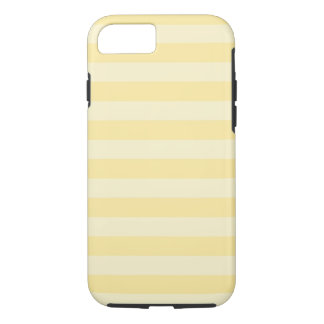 Coque iPhone 8/7 Caisse dure rayée jaune en pastel de l'iPhone 7
