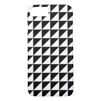 Coque iPhone 8/7 Caisse géométrique noire et blanche moderne de