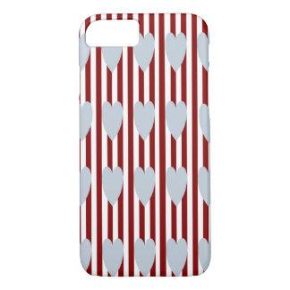 Coque iPhone 8/7 CAISSE GRISE de l'iPHONE 7/8 de COEURS de FILET de