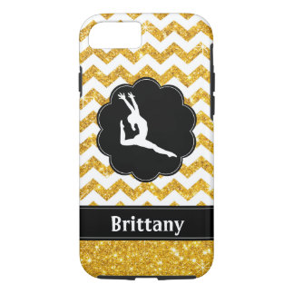 Coque iPhone 8/7 Caisse noire de téléphone portable de gymnastique
