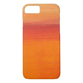 Coque iPhone 8/7 Caisse orange de toile de peinture