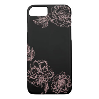 Coque iPhone 8/7 Caisse placée de fleurs de pivoine