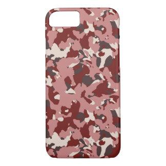 Coque iPhone 8/7 Caisse rouge de téléphone de camouflage