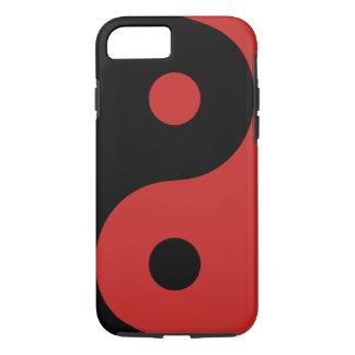 Coque iPhone 8/7 Caisse rouge de téléphone de Yin Yang