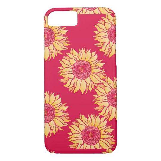 Coque iPhone 8/7 Caisse rouge d'Iphone 7 de tournesol