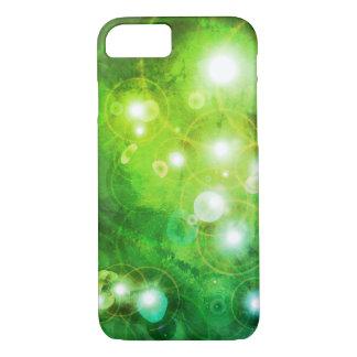 Coque iPhone 8/7 Caisse verte de téléphone de galaxie