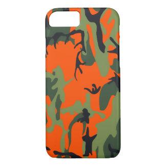 Coque iPhone 8/7 Camo orange et vert de sécurité