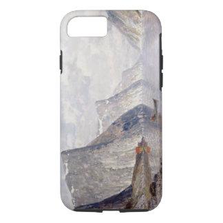 Coque iPhone 8/7 Canotage sur un fjord norvégien (huile sur la
