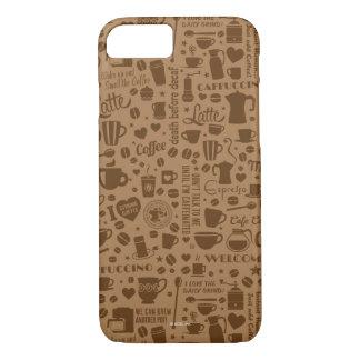 Coque iPhone 8/7 Carré de motif de café