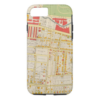 Coque iPhone 8/7 Carte 2 d'atlas de Yonkers