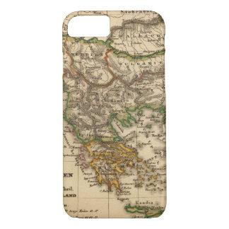 Coque iPhone 8/7 Carte de la Turquie et de la Grèce