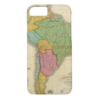 Coque iPhone 8/7 Carte de l'Amérique du Sud 4