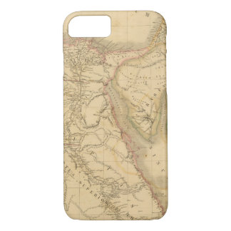 Coque iPhone 8/7 Carte de l'Egypte, de la Palestine et de l'Arabie