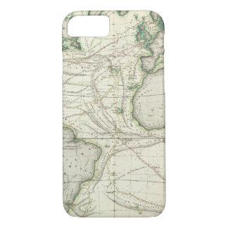 Coque iPhone 8/7 Carte de l'Océan Atlantique