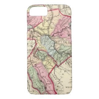 Coque iPhone 8/7 Carte de Putnam, Kanawha, comtés de Boone