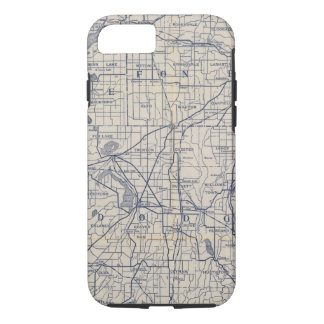Coque iPhone 8/7 Carte de route de bicyclette du Wisconsin 4