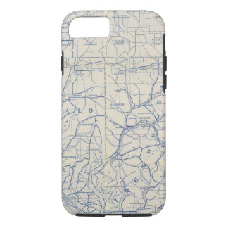 Coque iPhone 8/7 Carte de route de bicyclette du Wisconsin 6