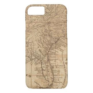 Coque iPhone 8/7 Carte des états de Virginie et de la Caroline du