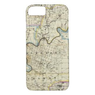 Coque iPhone 8/7 Carte des régions de pétrole du comté de Venango