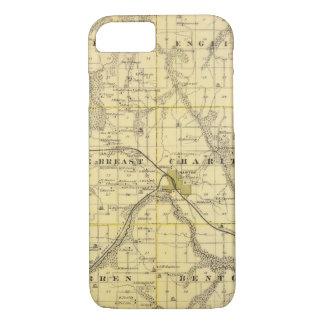 Coque iPhone 8/7 Carte du comté de Lucas, état de l'Iowa
