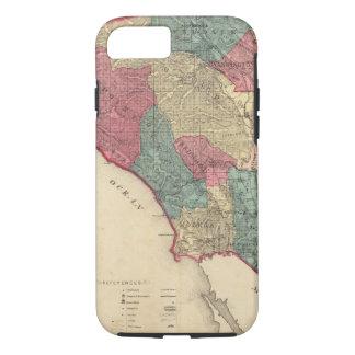 Coque iPhone 8/7 Carte du comté de Sonoma la Californie