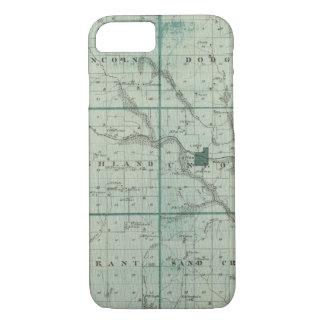 Coque iPhone 8/7 Carte du comté de Union, état de l'Iowa