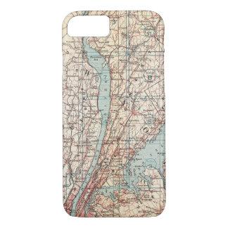 Coque iPhone 8/7 Carte du comté de Westchester, New York