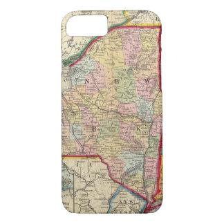 Coque iPhone 8/7 Carte du comté des états de New York