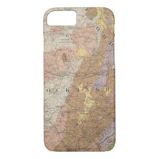Coque iPhone 8/7 Carte géologique du New Hampshire 4