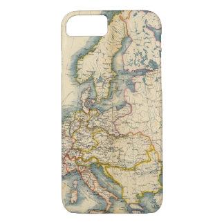 Coque iPhone 8/7 Carte industrielle de Commerciale de l'Europe