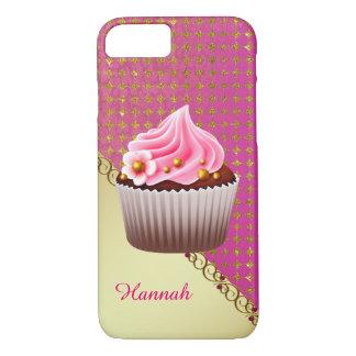 Coque iPhone 8/7 Cas assez rose de la coutume 7 de petit gâteau