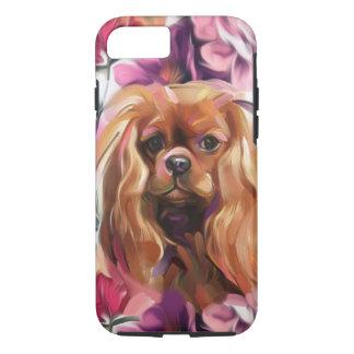 """Coque iPhone 8/7 Cas cavalier """"rouge"""" de téléphone d'art de chien"""