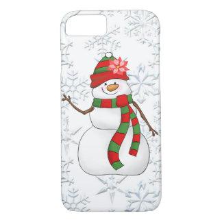Coque iPhone 8/7 Cas de la femme 8/7 de neige d'aquarelle de Noël