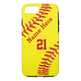 Coque iPhone 8/7 Cas de l'iPhone 6S du base-ball, votre nom et