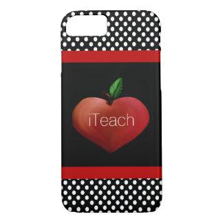 Coque iPhone 8/7 Cas de l'iPhone 7 d'Apple du professeur rouge de