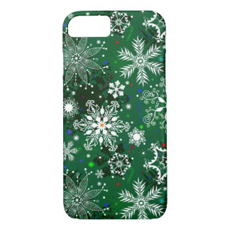 Coque iPhone 8/7 Cas de l'iPhone 7 de flocon de neige de Noël à